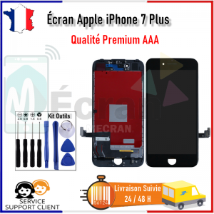 Ecran Apple iPhone 7 Plus iPhone 7+ LCD Afficheur Vitre Tactile Noir