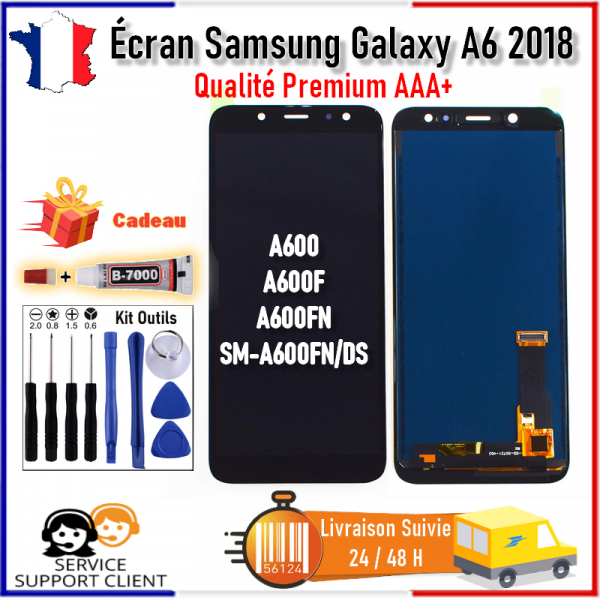 Ecran Samsung Galaxy A6 2018 A600 A600F A600FN SM-A600FN/DS LCD Tactile +Outils