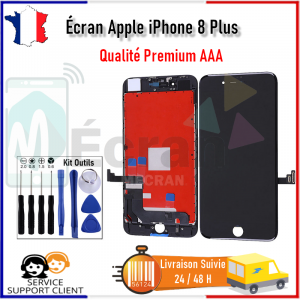 Ecran Apple iPhone 8 Plus iPhone 8+ LCD Afficheur Vitre Tactile Noir + outils